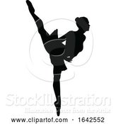 Vector Illustration of Ballet Dancing Silhouette by AtStockIllustration