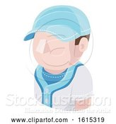 Vector Illustration of Baseball Guy Avatar People Icon by AtStockIllustration