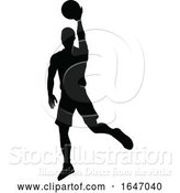 Vector Illustration of Basketball Player Silhouette by AtStockIllustration