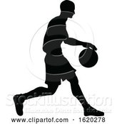 Vector Illustration of Basketballl Player Silhouette by AtStockIllustration