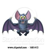 Vector Illustration of Bat Cute Halloween Vampire Animal by AtStockIllustration
