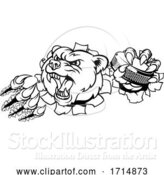 Vector Illustration of Bear Ice Hockey Player Animal Sports Mascot by AtStockIllustration