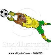 Vector Illustration of Bear Soccer Football Player Animal Sports Mascot by AtStockIllustration