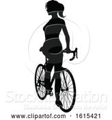 Vector Illustration of Bicycle Riding Bike Cyclist Silhouettes by AtStockIllustration
