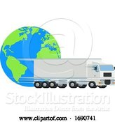 Vector Illustration of Big Rig and Earth by AtStockIllustration