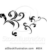 Vector Illustration of Black and White Design Elements by AtStockIllustration