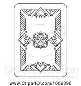 Vector Illustration of Black and White Playing Card by AtStockIllustration