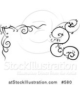 Vector Illustration of Black and White Swirl Designs by AtStockIllustration