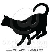 Vector Illustration of Black Silhouetted Cat by AtStockIllustration