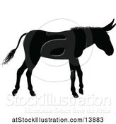 Vector Illustration of Black Silhouetted Donkey by AtStockIllustration