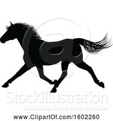 Vector Illustration of Black Silhouetted Horse by AtStockIllustration