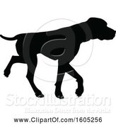 Vector Illustration of Black Silhouetted Labrador Dog by AtStockIllustration