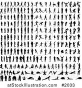 Vector Illustration of Black Silhouetted People by AtStockIllustration