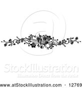 Vector Illustration of Black Spring Blossom Design Element by AtStockIllustration