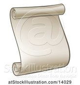 Vector Illustration of Blank Scroll by AtStockIllustration