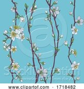 Vector Illustration of Blossom Japanese Sakura Cherry Flower Pattern by AtStockIllustration