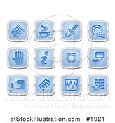 Vector Illustration of Blue and Silver Application Icons by AtStockIllustration