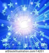 Vector Illustration of Blue Star Burst Background by AtStockIllustration