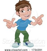 Vector Illustration of Boy Kid Child Character Pointing by AtStockIllustration