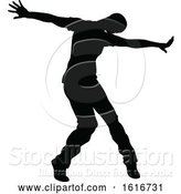 Vector Illustration of Break Dancer Silhouette by AtStockIllustration