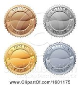 Vector Illustration of Bronze Silver Gold and Platinum Medals by AtStockIllustration