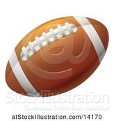 Vector Illustration of Brown American Football by AtStockIllustration