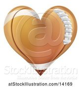 Vector Illustration of Brown American Football Heart by AtStockIllustration