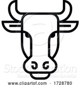 Vector Illustration of Bull Sign Label Icon Concept by AtStockIllustration