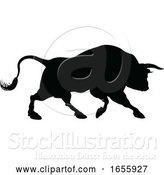 Vector Illustration of Bull Silhouette by AtStockIllustration