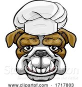 Vector Illustration of Bulldog Chef Mascot Character by AtStockIllustration