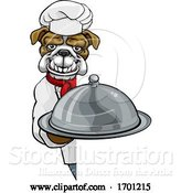 Vector Illustration of Bulldog Chef Mascot Sign by AtStockIllustration