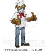 Vector Illustration of Bulldog Chef Mascot Thumbs up by AtStockIllustration
