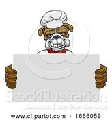 Vector Illustration of Bulldog Chef Restaurant Mascot Sign by AtStockIllustration