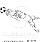 Vector Illustration of Bulldog Soccer Football Player Sports Mascot by AtStockIllustration