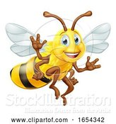 Vector Illustration of Bumble Bee Character by AtStockIllustration