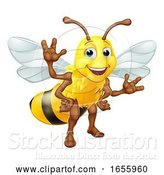 Vector Illustration of Bumble Honey Bee Bumblebee Character by AtStockIllustration