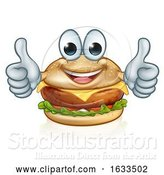Vector Illustration of Burger Food Character Mascot by AtStockIllustration