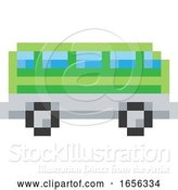 Vector Illustration of Bus Coach Pixel 8 Bit Video Game Art Icon by AtStockIllustration