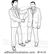 Vector Illustration of Business Men Shaking Hands by AtStockIllustration