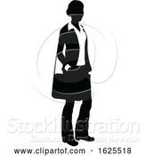 Vector Illustration of Business Person Silhouette by AtStockIllustration
