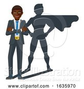 Vector Illustration of Business Person Super Hero Mascot by AtStockIllustration