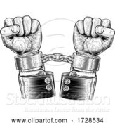 Vector Illustration of Business Suit Hands Chained Vintage Style Concept by AtStockIllustration