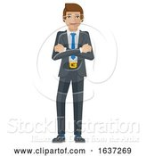 Vector Illustration of Businessman Character Mascot by AtStockIllustration