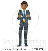Vector Illustration of Businessman Holding Hammer Mascot Concept by AtStockIllustration