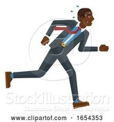 Vector Illustration of Businessman Stress Pressure Tired Running Concept by AtStockIllustration