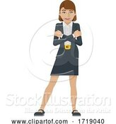 Vector Illustration of Businesswoman Mascot Concept by AtStockIllustration