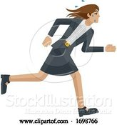 Vector Illustration of Businesswoman Stress Tired Running Concept by AtStockIllustration