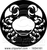 Vector Illustration of Cancer Crab Zodiac Horoscope Sign by AtStockIllustration