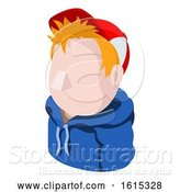 Vector Illustration of Cap Hoodie Guy Avatar People Icon by AtStockIllustration