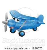 Vector Illustration of Cartoon Airplane Character by AtStockIllustration